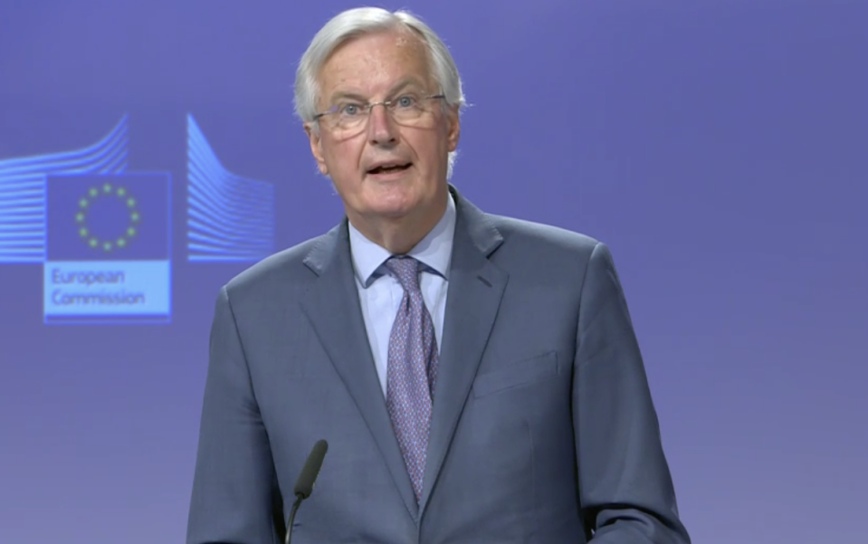 Michel Barnier has attacked the UK government over its Brexit negotiations with the EU. (European Commission)