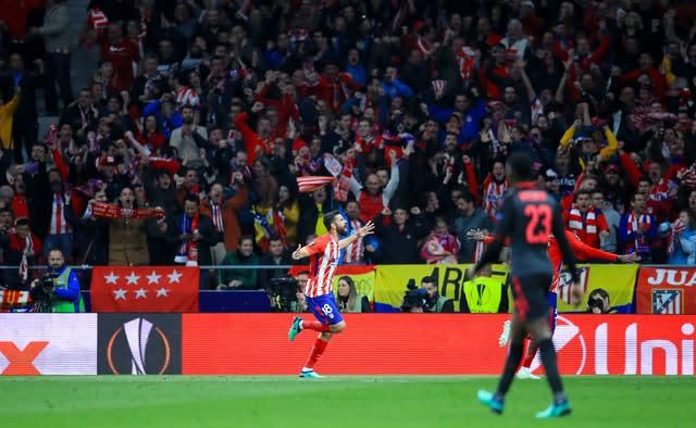 Diego Costa's goal in Madrid ended Arsenal hopes (Adam Davy/PA)