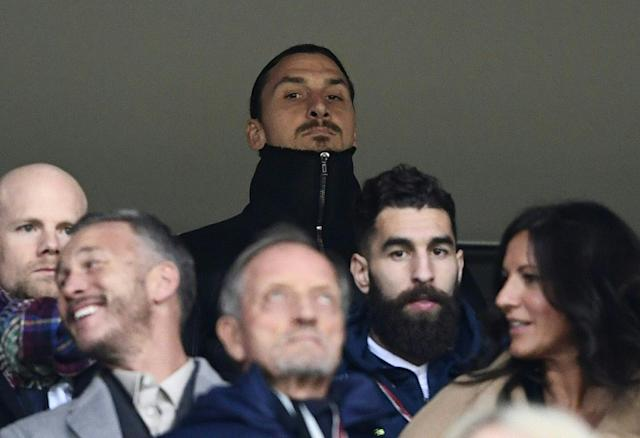 Zlatan Ibrahimovic attended Sweden's first-leg victory over Italy. (Getty)
