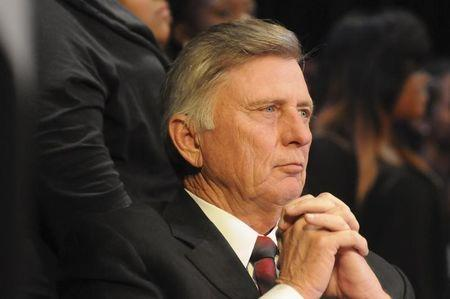 Arkansas governor Mike Beebe looks on during a Martin Luther King Jr. service in this January 15, 2013 Governor's office handout photo