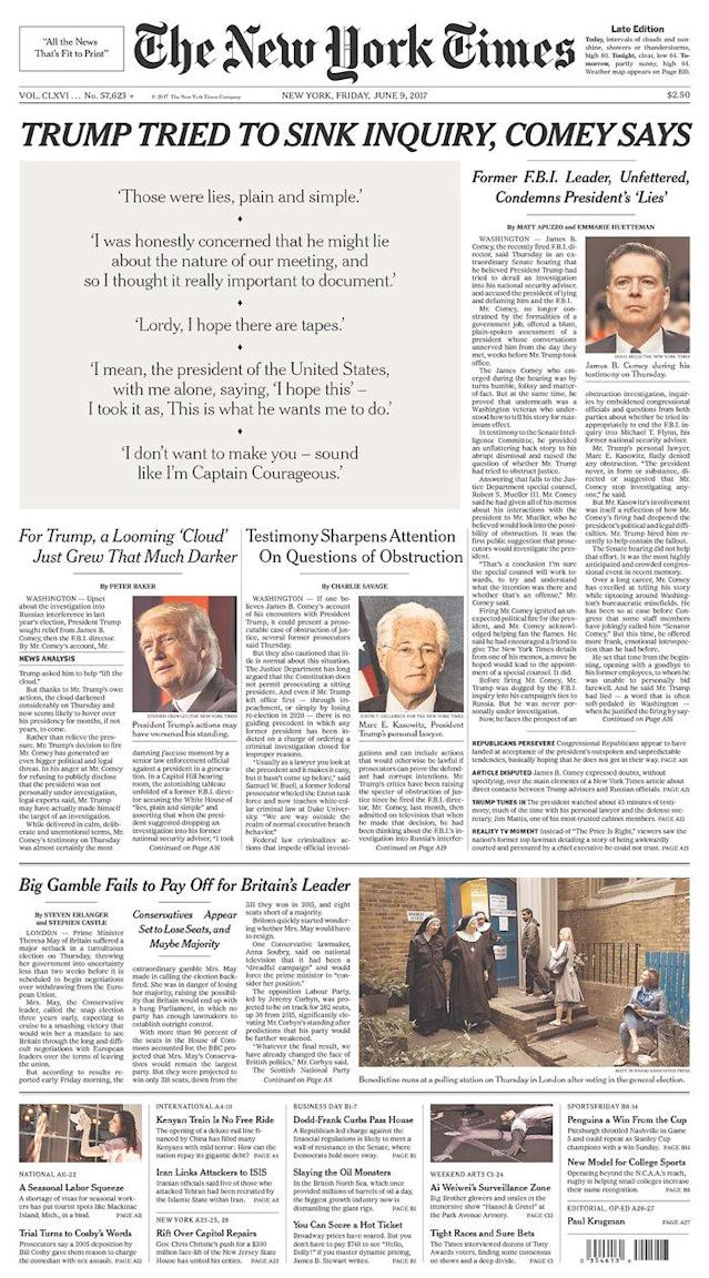 "<p>""The New York Times,"" published in<br> New York, N.Y. (Newseum) </p>"