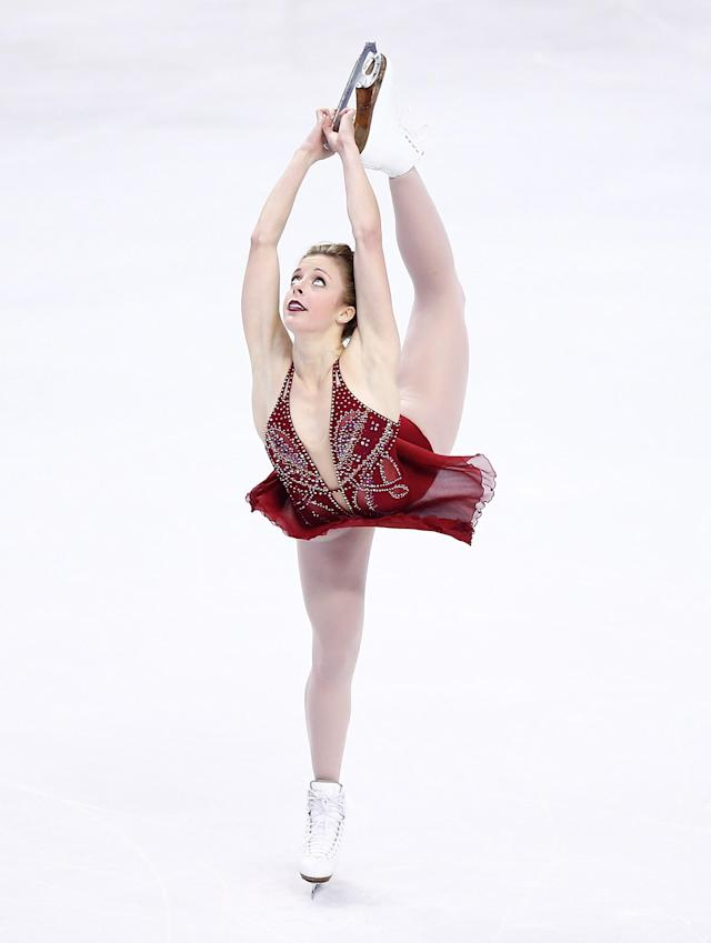 BOSTON, MA - JANUARY 11: Ashley Wagner competes in the free skate program during the 2014 Prudential U.S. Figure Skating Championships at TD Garden on January 11, 2014 in Boston, Massachusetts. (Photo by Jared Wickerham/Getty Images)