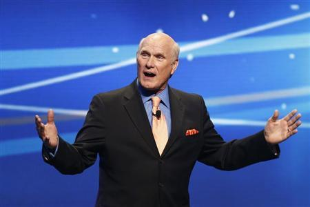 """Terry Bradshaw speaks during a presentation to announce Fox's new sports network """"Fox Sports 1"""" in New York,"""