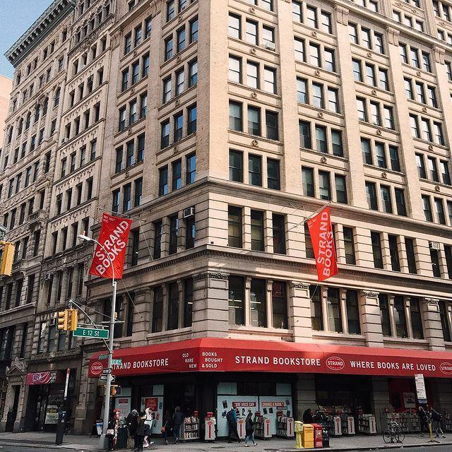 """<p>""""18 miles of books"""" is the slogan at this bookstore, which <a href=""""http://www.strandbooks.com/about-strand-books/"""" rel=""""nofollow noopener"""" target=""""_blank"""" data-ylk=""""slk:opened in 1927"""" class=""""link rapid-noclick-resp"""">opened in 1927</a>. Today it carries more than 2.5 million used, new, and rare books """"covering topics as far-ranging as occult to philosophy to finance.""""</p><p><a href=""""https://www.instagram.com/p/BfYg2RLA3K6/"""" rel=""""nofollow noopener"""" target=""""_blank"""" data-ylk=""""slk:See the original post on Instagram"""" class=""""link rapid-noclick-resp"""">See the original post on Instagram</a></p>"""