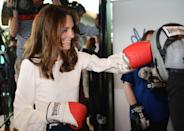 <p>Kate threw some punches at the launch of the Heads Together campaign on mental health. </p>