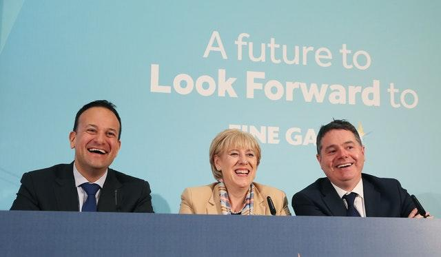Taoiseach Leo Varadkar, Minister for Finance Paschal Donohoe and Minister for Business, Enterprise and Innovation Heather Humphreys