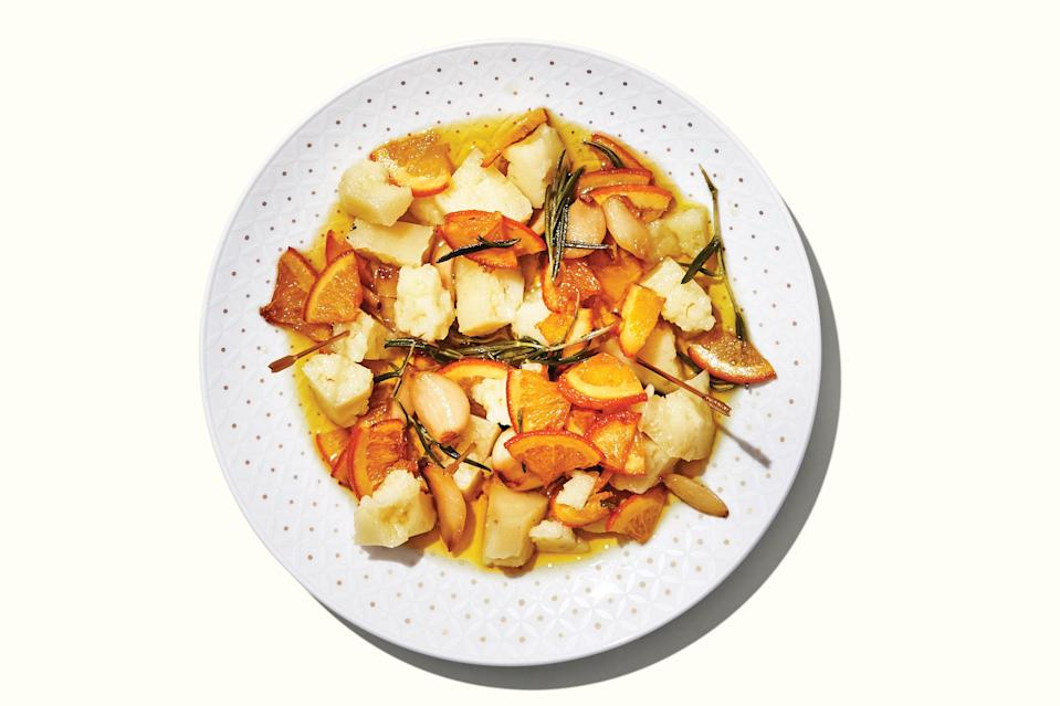 "Cheese is just a snack. But garlic, orange, and rosemary-marinated cheese is a full-blown appetizer. <a href=""https://www.epicurious.com/recipes/food/views/marinated-manchego?mbid=synd_yahoo_rss"" rel=""nofollow noopener"" target=""_blank"" data-ylk=""slk:See recipe."" class=""link rapid-noclick-resp"">See recipe.</a>"