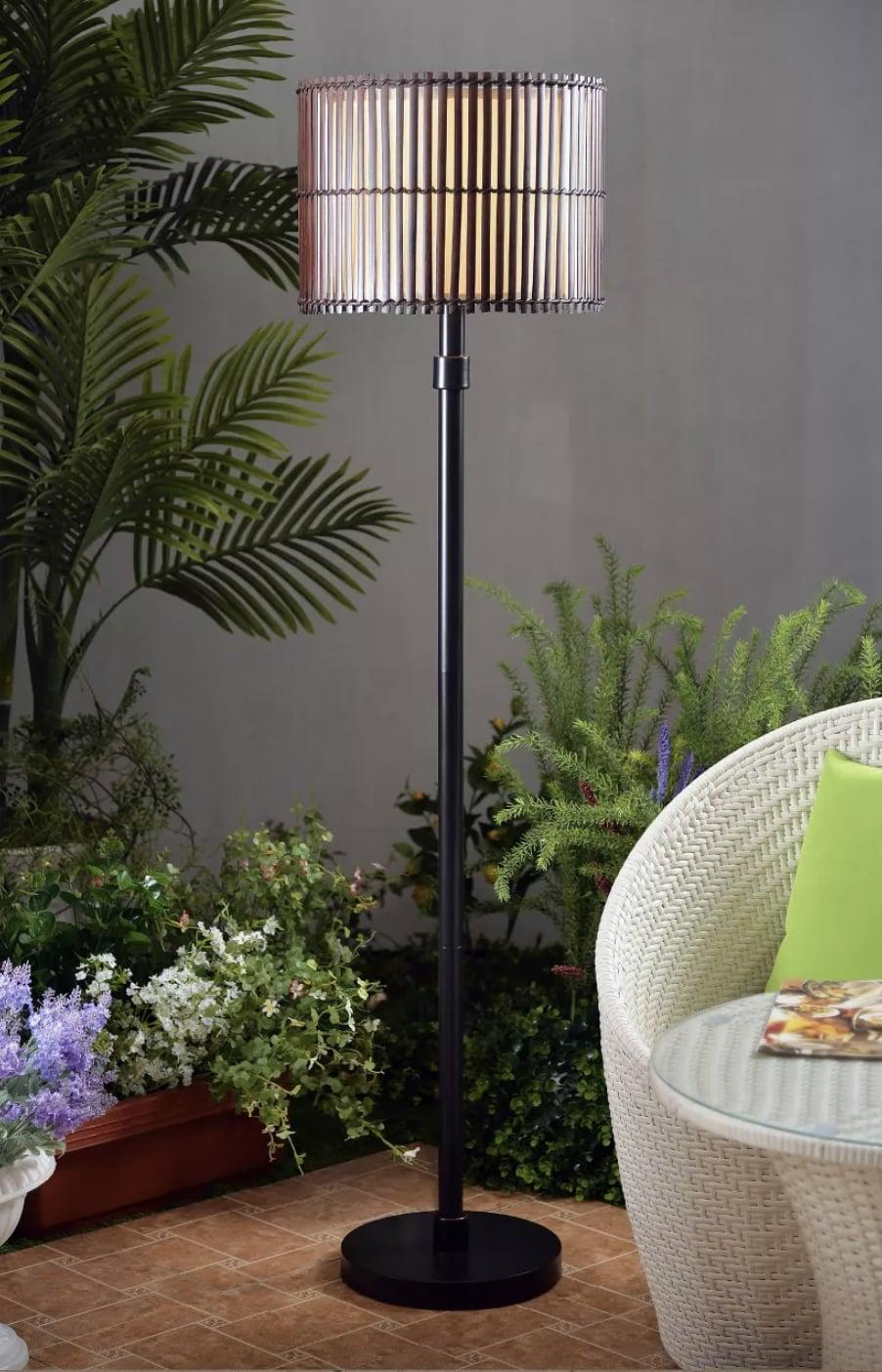 <p>Yes, outdoor lamps exist! This <span>Kenroy Home Bora Outdoor Floor Lamp</span> ($214) is made with durable, weather-proof fabric.</p>