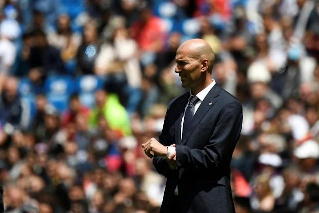 Real Madrid coach Zinedine Zidane, pictured May 19, 2019, has left the Spanish giants' pre-season training camp in Montreal after the death of his brother, the club has said (AFP Photo/PIERRE-PHILIPPE MARCOU)