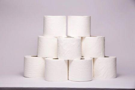 Toilet paper is pictured in New York