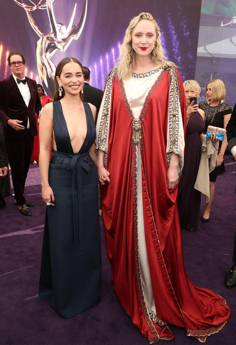 <p>On the red carpet at the 2019 Emmys.</p>