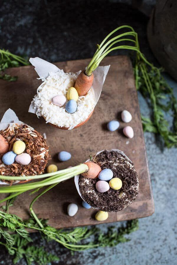 """<p>If you have a major sweet tooth with a particular penchant for all things chocolate, these decadent little Easter treats will do the trick. They're basically a cross between a Nutella mudpie and carrot cake, which is surprisingly delicious. </p><p>Get the full recipe from <a href=""""https://www.halfbakedharvest.com/double-chocolate-nutella-carrot-cake-cups-with-malted-cream-cheese-frosting/"""" rel=""""nofollow noopener"""" target=""""_blank"""" data-ylk=""""slk:Half Baked Harvest"""" class=""""link rapid-noclick-resp"""">Half Baked Harvest</a>. </p>"""