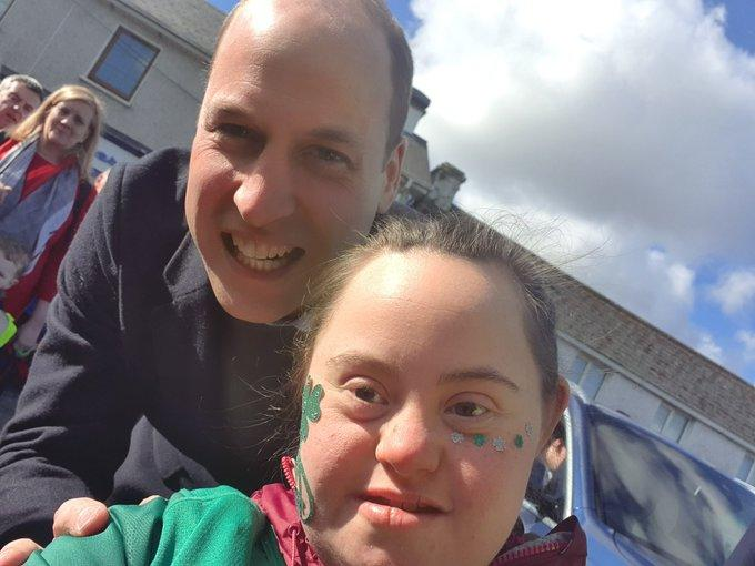 Donna Malone shared a selfie with the Duke of Cambridge. (Twitter/Donna Malone)