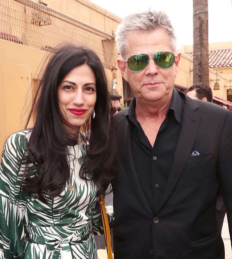 Huma Abedin Hung Out With David Foster at the Hollywood Walk of Fame
