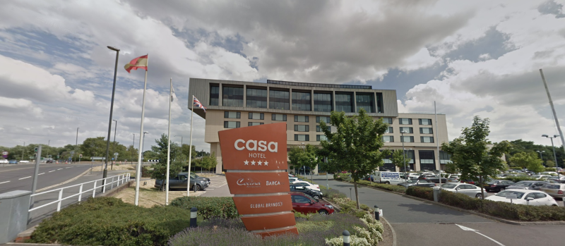 Casa Hotel, which has offered NHS staff free lodging. (Google Maps)