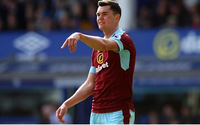 <span>Michael Keane is the subject of transfer interest from several top Premier League clubs, including today's opponents and former club Manchester United</span> <span>Credit: REX </span>