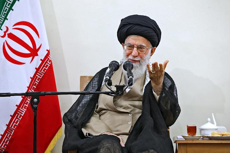 "Iran's supreme leader Ayatollah Ali Khamenei, who on Wednesday dismissed US President Donald Trump's ""wants and whoppers"""