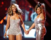 <p>When icons meet! Tina and Beyonce performed together during the Grammy Awards. </p>