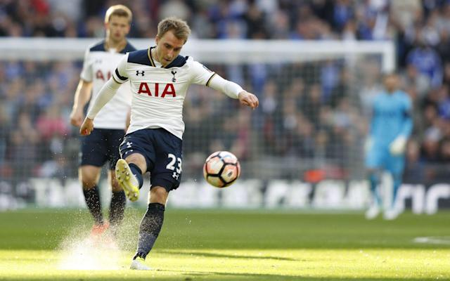 <span>Christian Eriksen created two more assists, though unfortunately for the Tottenham midfielder still ended up on the losing side after his side lost to Chelsea</span> <span>Credit: Getty Images </span>