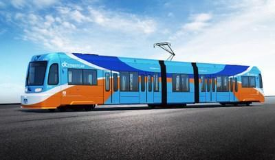 An artist rendering shows what the OC Streetcar, Orange County California's first modern electric streetcar will look like. Photo courtesy of the Orange County Transportation Authority.