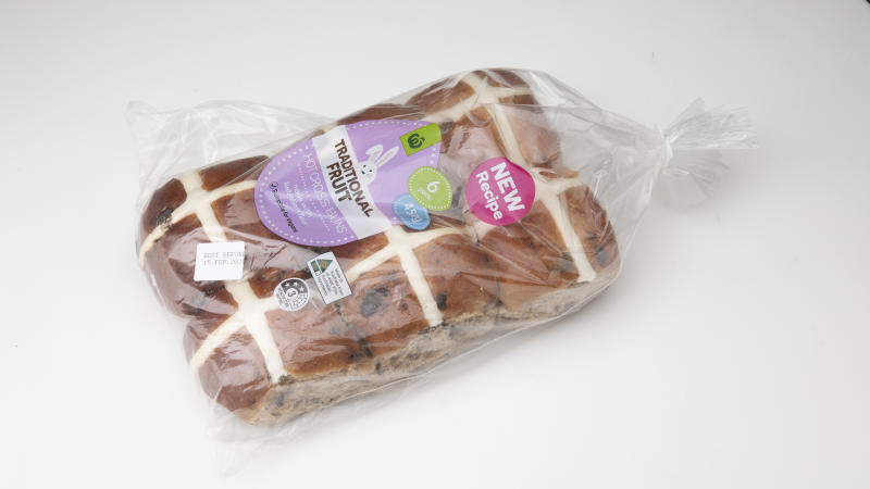 Woolworths Traditional Fruit Hot Cross Buns
