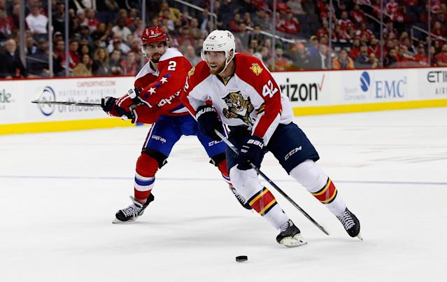 <p>Howden (right), who was born in Oakbank, Manitoba, currenrly plays HC Dinamo Minsk in the Kontinental Hockey League. He was drafted by the Florida Panthers in the first round (25th overall) of the 2010 NHL entry draft. He left as a free agent in 2010, signing a two-way contract with the Winnipeg Jets in 2016. Howden made his transition to the KHL in 2017. </p>