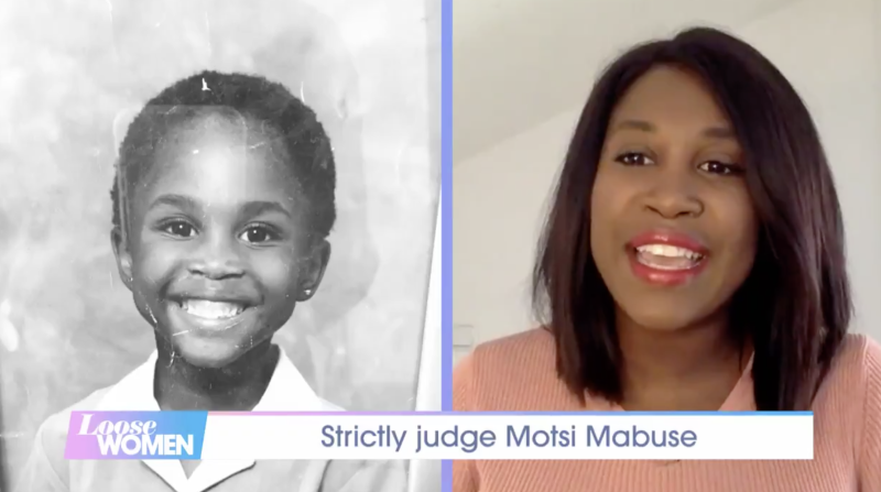 Motsi Mabuse became tearful upon seeing a childhood photo of herself. (ITV)
