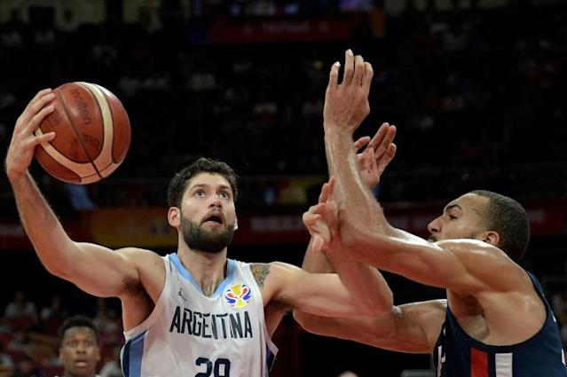 A Argentina superou a França e se classificou para a final da Copa do Mundo de basquete, 13 de setembro de 2019 na China