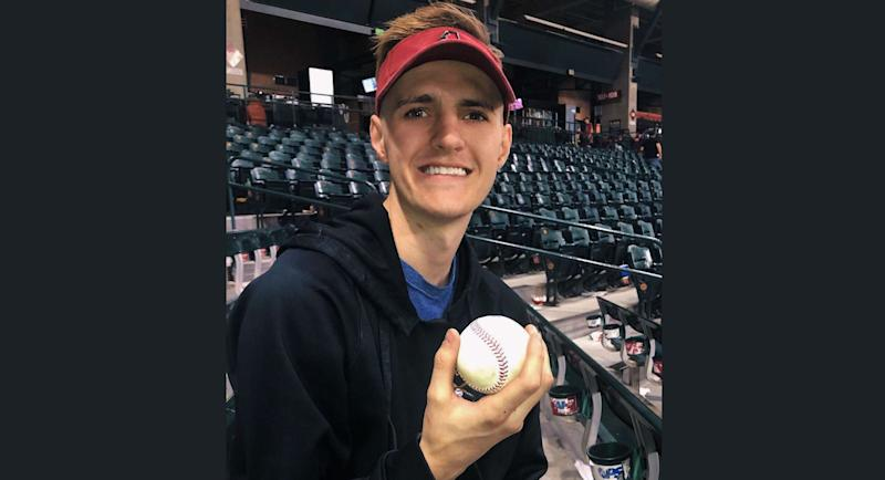 91398ae5 Alex Robertson was celebrating his 21st birthday at a baseball game, his  dad's favorite sport