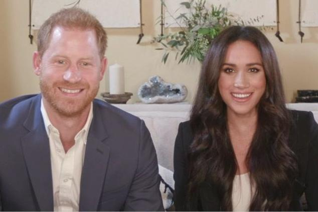 Harry and Meghan on another call to discuss the global crisis of misinformation as part of Time100 Talks (PA)