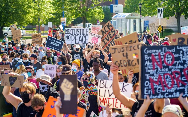 Protests have erupted across the US and the rest of the world in response to George Floyd's death - KEREM YUCEL / AFP
