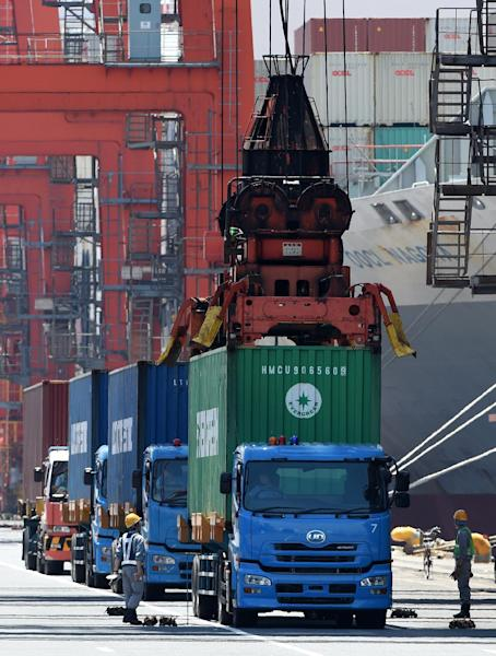 Data shows that shipments to the key US market turned down, while demand for Japanese products in Asia also fell (AFP Photo/Toru Yamanaka)