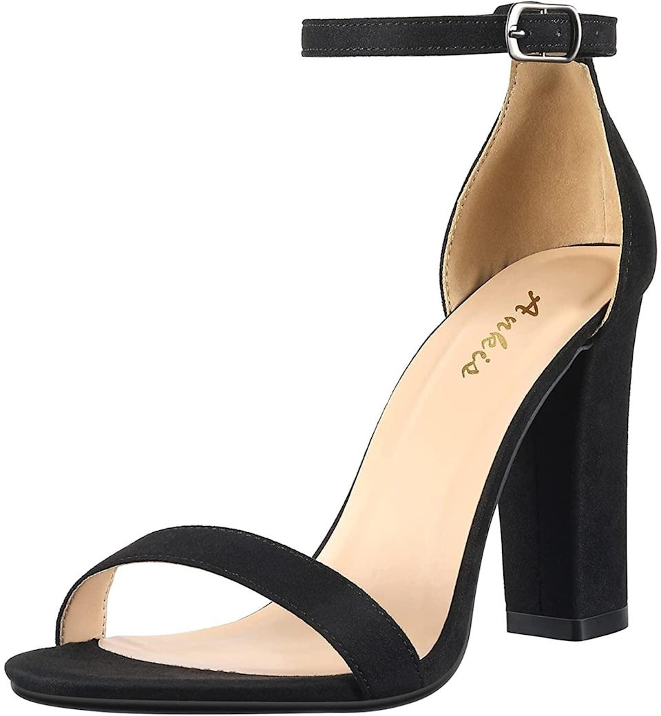 <p>Whether you're going into the office or going out with friends, you can't go wrong with these stylish <span>Ankis Open Toe Ankle Strap Heels</span> ($49). It's a basic heel that everyone needs in their closet.</p>