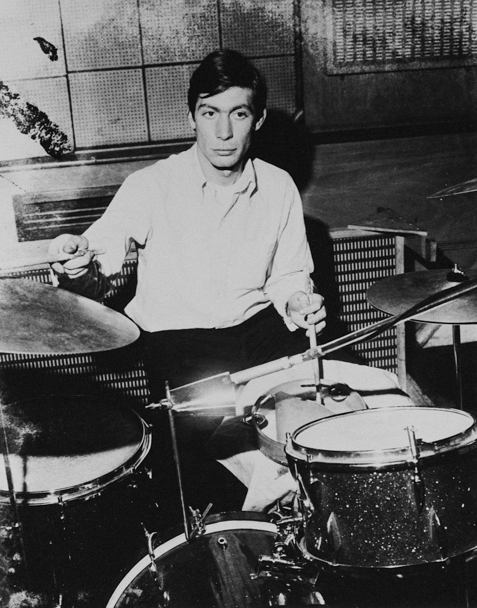 <p>Charlie Watts of the Rolling Stones, circa 1965.</p>