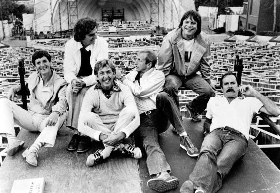 From left to right: Michael Palin, Terry Jones, Eric Idle, Graham Chapman, Terry Gilliam and John Cleese in 1982 (Getty)