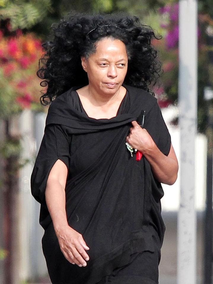 **EXCLUSIVE** Diana Ross goes makeup free as she visits a friend in Los Angeles