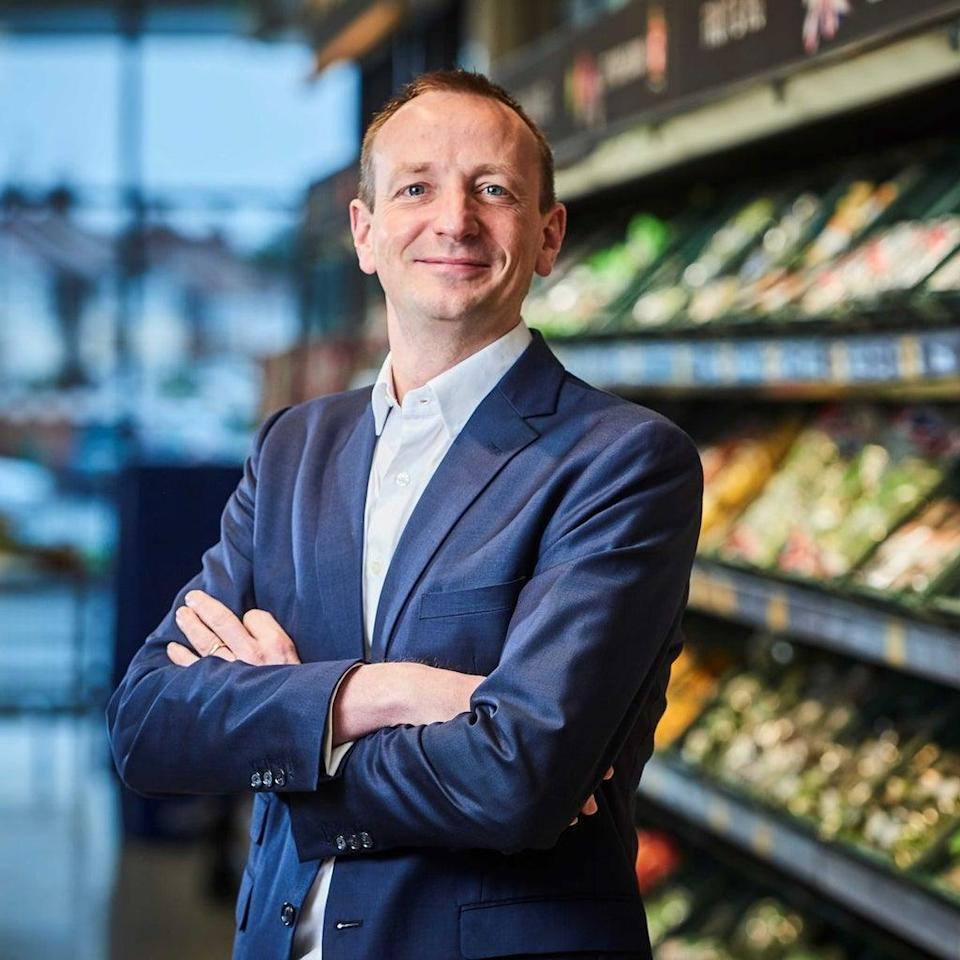 Aldi boss Giles Hurley said profits fell due to investment during the pandemic. (Aldi / PA)