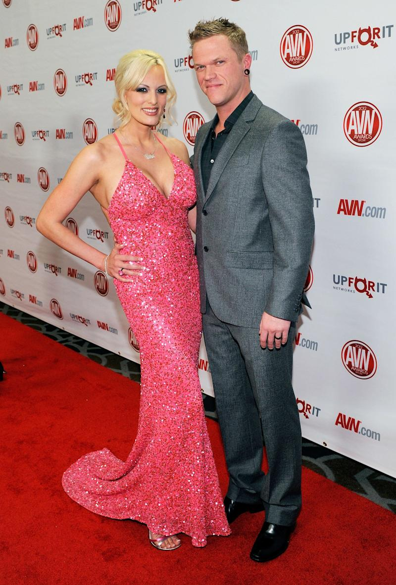 Daniels with her husband, adult film actor Brendon Miller, at the 29th annual Adult Video News Awards Show at the Hard Rock Hotel & Casino on Jan. 21, 2012, in Las Vegas.