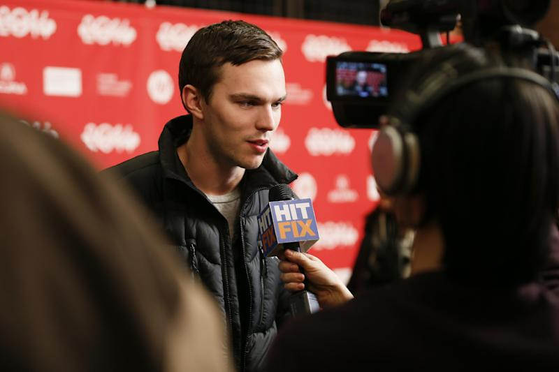 "Cast member Nicholas Hoult is interviewed at the premiere of the film ""Young Ones"" during the 2014 Sundance Film Festival, on Saturday, Jan. 18, 2014 in Park City, Utah. (Photo by Danny Moloshok/Invision/AP)"