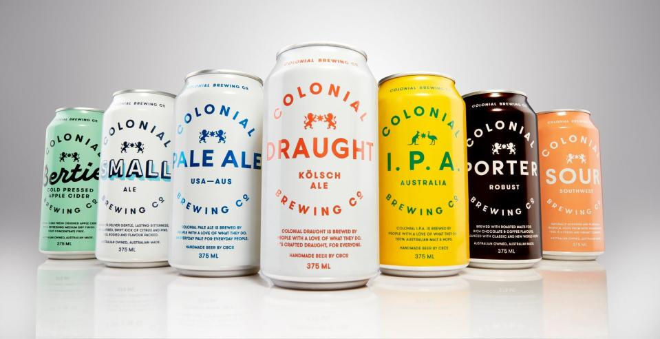 The company has copped flack over the word 'colonial' being in its name. Source: Facebook/Colonial Brewing Co