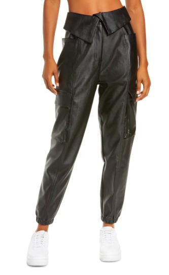 Jordan Court-to-Runway Faux Leather Utility Pants (Photo via Nordstrom)