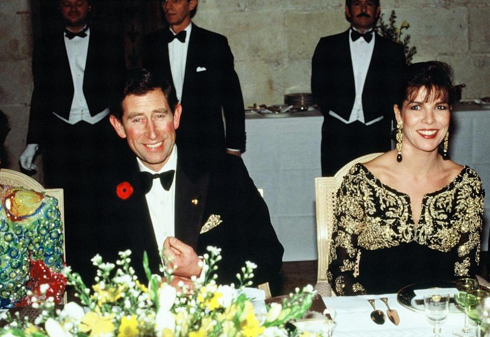 <p>During his official visit to France in 1988, Prince Charles was seated next to Princess Caroline at a dinner at the Chateau de Chambord. </p>
