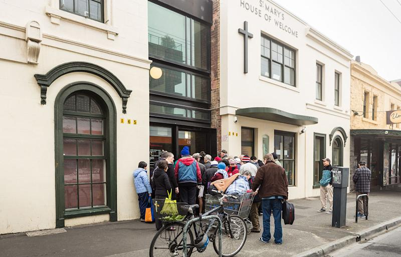 St Mary's House of Welcome in Fitzroy, in Melbourne's north, provides hot meals, showers, and essential services for those who are homeless, in poverty, who have mental health issues, and who are socially marginalised.