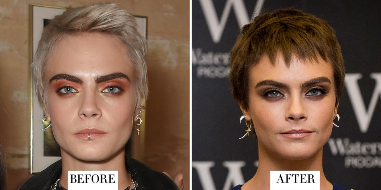 <p><strong>When:</strong> 4 October</p><p><strong>Style change: </strong>Delevingne has had a fair few hair transformations this year from cutting off her long locks into a bob to trying out a buzzcut. Her latest look however is a choppy chocolate brown pixie cut.</p>