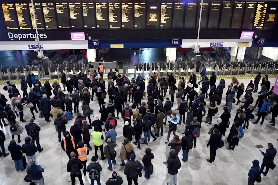 Passengers have been hit with weekend disruption (Picture: PA)