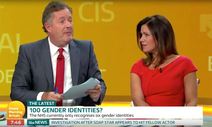 Piers Morgan's comments on gender weren't investigated by Ofcom. (ITV)