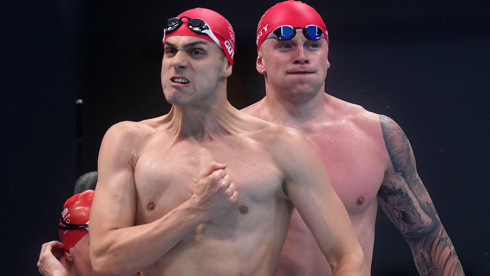 Team GB double up with triathlon and swimming relay golds