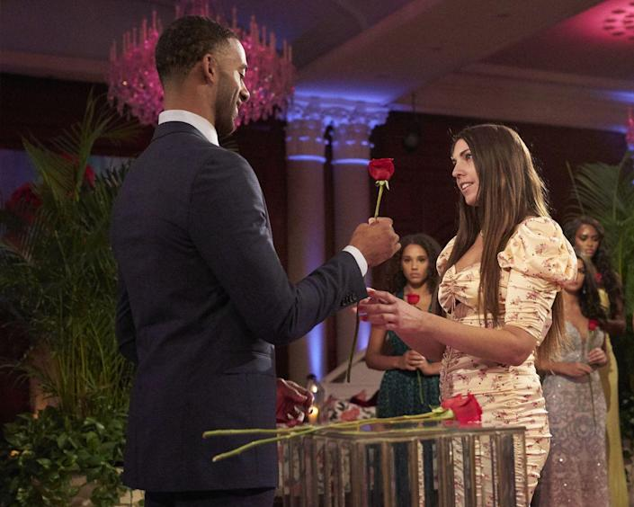 <p>....why Victoria got one of the <em>last</em> roses of the night during her super dramatic episode. </p>