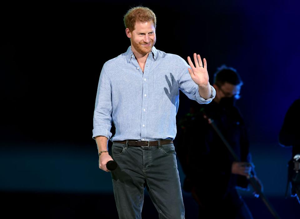 Prince Harry spoke at the vax live event in person