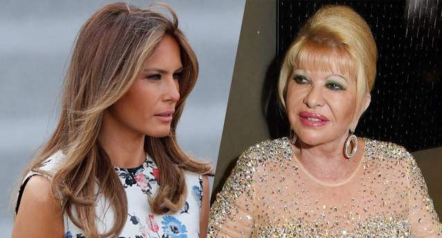 First lady Melania Trump and Ivana Trump. (Photos: Charles Platiau/Reuters, Foc Kan/WireImage via Getty Images)